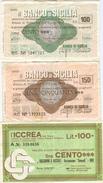 94 - N. 3 MINIASSEGNI - Monete & Banconote