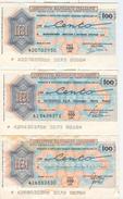 95 - N. 3 MINIASSEGNI - ISTITUTO BANCARIO ITALIANO - Monete & Banconote