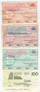 96 - N. 4 MINIASSEGNI - Monete & Banconote