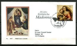 """First Day Cover Germany 2012 Michel Nr.2919,aus Block 79""""500 Jahre Sixtinische Madonna,Gemälde Von Raffael Santi """"1 FDC"""