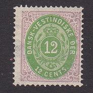 Danish West Indies, Scott #11, Mint No Gum, Number, Issued 1874 - Denmark (West Indies)