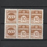 1930 RUNDSKUEDAGEN 10 ORE BLOCK MNH**