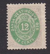 Danish West Indies, Scott #11, Mint No Gum, Number, Issued 1874 - Danemark (Antilles)