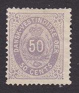 Danish West Indies, Scott #13, Mint No Gum, Number, Issued 1874