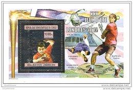 CONGO 2012 ** S/S Gold London 2012 Ping Pong Tischtennis Tennis De Table - OFFICIAL ISSUE - C1521 - Verano 2012: Londres