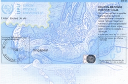 SINGAPORE  SINGAPOUR Do36 International Reply Coupon Reponse Antwortschein IAS IRC Hologram Water Eau