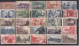 France  Lot De 25 Timbres Oblitérés Avant 1950 - France