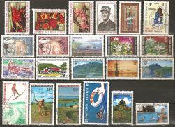 Polynésie Française Lot De 22 Timbres Poste Oblitérés - Départ Petit Prix - Collections, Lots & Séries