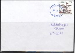 LITHUANIA Postal History Bedarfsbrief Cover 107 Fauna Birds - Lithuania