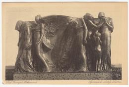 """Monument To Death"" On The Leitner Family Tomb (Varaždin, 1906) By Robert Frangeš Mihanović Postcard - Sculptures"