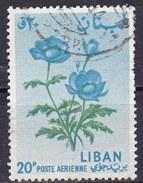 Libano, 1964 - 20p Anemone - Nr.C393 Usato° - Libano