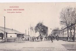 """Carte 1905 SAINT NAZAIRE / L'entrée Du Boulevard Leferme (publicité Théophile Guillon """"fine Bretagne"""") - Saint Nazaire"""
