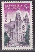 Madagascar, 1967 - 5fr Catholic CDathedral, Tananarive - Nr.397 Usato° - Madagascar (1960-...)