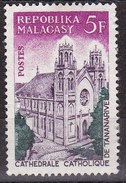 Madagascar, 1967 - 5fr Catholic Cathedral, Tananarive - Nr.397 Usato° - Madagascar (1960-...)