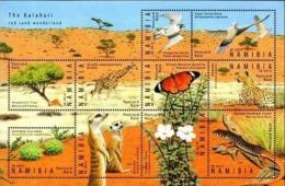 NAMIBIA 2014 Kalahari, Birds, Butterfly, Giraffe, Fauna MNH