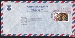 Chile: Airmail Cover To Netherlands, 1991, Mix Stamp & Meter Cancel, Mining (stamp Damaged!) - Chili