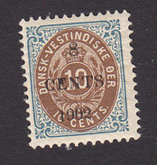Danish West Indies, Scott #25, Mint Hinged, Number Surcharged, Issued 1902 - Denmark (West Indies)