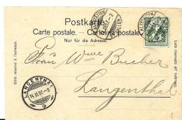 I55 - Carte Envoyée D'Altstätten à Langenthal 1907 - Lettres & Documents