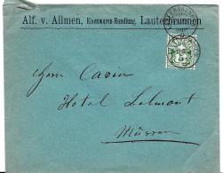 I69 - Enveloppe Avec  Superbes Cachets  Lauterbrunnen 1905