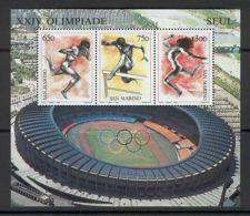 JAP U09 San Marino 1988 MNH S/s Sport Athletics CV 4 Eur