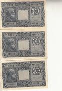 """Banconote Da 10 Lire Lotto Di 3 Biglietto_ N°0521 Serie 961326/383012/15-"""" 2 SCANSIONI- - Italia"""