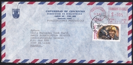Chile: Airmail Cover To Netherlands, 1991, Mix Stamp & Meter Cancel, Mining, Miner (traces Of Use) - Chili