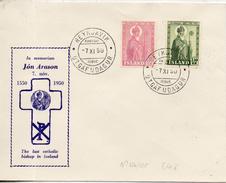 Islande. Enveloppe Fdc. Jon Arason. 1950 - FDC