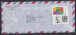 Chile: Airmail Cover To Netherlands, 1991, 3 Stamps, Democracy, Tram, Tramway, Public Transport (traces Of Use) - Chili