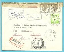 1068+1583 Op Brief Aangetekend Stempel BRUXELLES 15, Strookje RETOUR... + ONBESTELBARE BRIEF /  REBUT ..