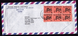 Chile: Airmail Cover To Netherlands, 1988, 6 Stamps, Eastern Island Artifact, Culture (damaged, See Scan!) - Chili