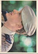 CHANTEUR----JOHNNY HALLYDAY--carte Géante--disques PHILIPS--offert Par CALTEX-dédicace Imprimée-voir 2 Scans - Singers & Musicians
