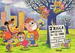 1986 - BARBEROUSSE - Distribution De Cartes D'invitation, Chat, Chien, Oiseaux.... - Barberousse