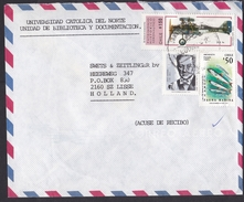 Chile: Airmail Cover To Netherlands, 1994, 3 Stamps, Historical Airplane, Aeronautics, Fish, Sea Life (tape At Back) - Chili