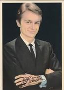 CHANTEUR----CLAUDE FRANCOIS---carte Géante--disques PHILIPS--offert Par CALTEX-dédicace Imprimée-voir 2 Scans - Singers & Musicians