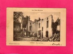Les Villes Martyres, NOMENY, Place Des Ormes, 1915, Cachet 2° Rgt D'Artillerie, Capitaine, Commandant, 54 Meurthe Et M - Guerre 1914-18