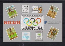 Liberia 1988, S/s Sports, Olympic Games, Mibl 114, MNH. Cv 10 Euro - Liberia