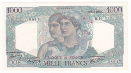 FRANCE : BILLET 1000 FRANCS MINERVE Et HERCULE Du 26-4-1945 - 1 épinglage, Pli De Liasse Peu Marqué, (2 Scan) R8 - 1 000 F 1945-1950 ''Minerve Et Hercule''