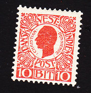 Danish West Indies, Scott #32, Mint Hinged, King Christian IX, Issued 1905