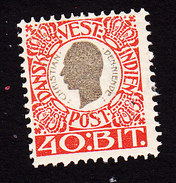 Danish West Indies, Scott #35, Mint Hinged, King Christian IX, Issued 1905