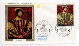 - FRANCE - FDC COGNAC 1.7.1967 - Peintre JEAN CLOUET - Tableau PORTRAIT DE FRANCOIS 1er -
