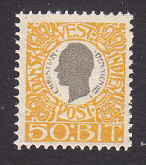 Danish West Indies, Scott #36, Mint Hinged, King Christian IX, Issued 1905