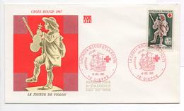 - FRANCE - FDC DIEPPE 16.12.1967 - CROIX ROUGE - LE JOUEUR DE VIOLON -