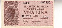 """Banconote/Banconota Da 1 Lira Lotto Di 1 Biglietto_ N°524 Serie 903250-"""" 2 SCANSIONI- - Altri"""
