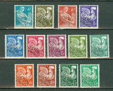 France  1953/59  Yv . PRE  106/118*,   - Cote Yv. € 65,00 (2 Scans)