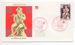 - FRANCE - FDC DIEPPE 16.12.1967 - CROIX ROUGE - LE JOUEUR DE FLUTE -