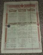 Royaume De SERBIE Emprunt 5 %, Obligation 500 Francs 1902, Titre/Récépissé/Action/Bon - Actions & Titres