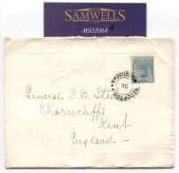 MS2068 1916 ARGENTINA WW1 Cover General Steele *Canadian Contingent* GB Kent