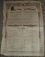 Royaume De SERBIE Emprunt 4 %, Obligation 500 Francs 1906, Titre/Récépissé/Action/Bon - Actions & Titres