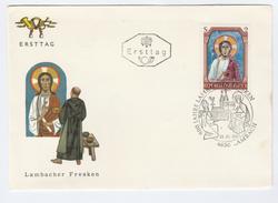 1967 Lambach AUSTRIA FDC LAMBACH 900th ANNIV Stamps SPECIAL Pmk RELIGION, CHURCH Cover - FDC