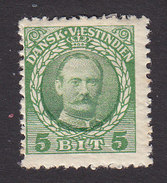 Danish West Indies, Scott #43, Mint Hinged, Frederik VIII, Issued 1908